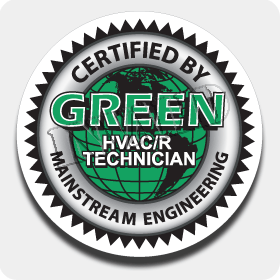 Green HVAC/R Truck Decal