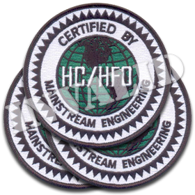 'HC/HFO Certified' Iron-On Patch 3/pk