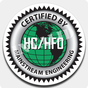 'HC/HFO Certified' Truck Decal