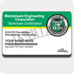 PM Tech Certification Card