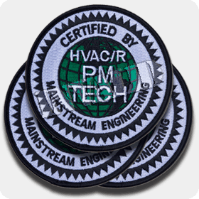 'PM Tech Certified' Iron-On Patches - 3 Pack