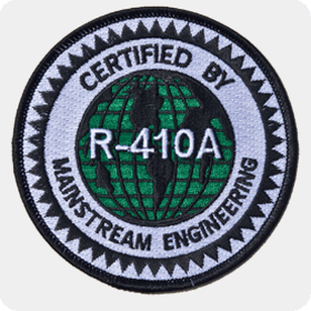 'R-410A Certified' Iron-On Patch - Single Pack