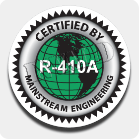 12 in. 'R-410A Certified' Truck Decal