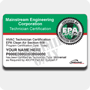EPA 608 Certification Card