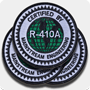 'R-410A Certified' Iron-On Patches - 3 Pack